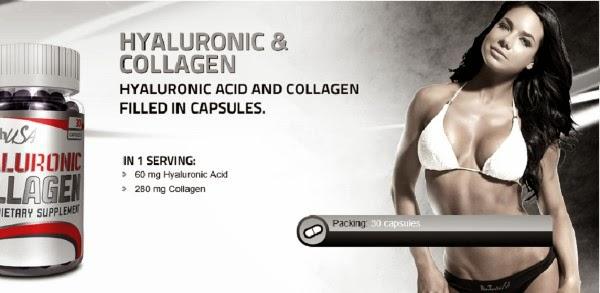 Hyaluronic collagen papildai