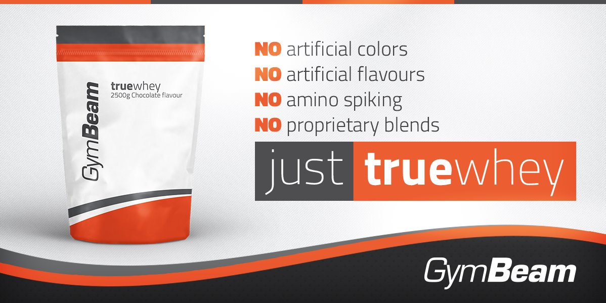 Gymbeam true whey proteinas