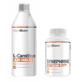 GymBeam L-Carnitine 220 000 (500ml) + Synephrine (90tab)